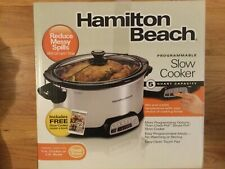 Hamilton Beach Programmable 5 Quart Oval Stainless Steel Slow Cooker -New in Box