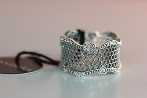 Brand New Ex Display Pandora Lace Of Love Ring Size 54 197706CZ  S925 ALE