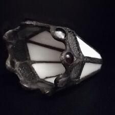 Lampenglas Lampenschirm Tiffany weiß Erstzglas Lampen Glas G4 Tischlampe