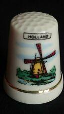 HOLLAND NETHERLANDS WINDMILL KINDERDIJK 19 MILLS FINE BONE SOUVENIR THIMBLES