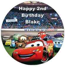"""Disney Cars Lightning Mcqueen 7.5"""" Personalised Cake Topper Edible Wafer Paper"""