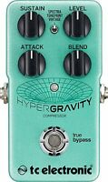 New TC Electronic HyperGravity Compressor Guitar Effects Pedal