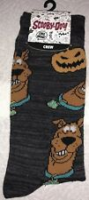 SCOOBY-DOO Crew Socks 1Pair Men 8-12 Halloween Pumpkin Gray Where Are You Shaggy