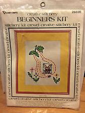 Vogart Crafts Beginner's Stitchery 2682E Rabbit in Pear Vtg 1977 Sewing 8 x 10