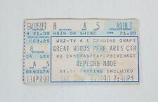 1990 DEPECHE MODE Great Woods MA Concert Ticket Stub WORLD VIOLATION TOUR