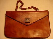 Vintage.Brown Leather.According Style.Purse