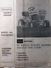 Sears Craftsman 536.963631 Riding Lawn Garden Tractor Owner & Parts Manual AMF