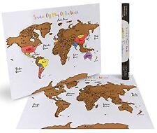 Scratch Off World Map Poster Country Travel Tracker USA International Globe Best
