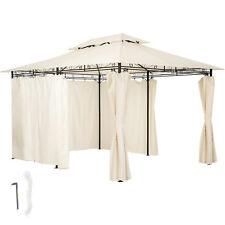 Gazebo da giardino di lusso tendone tenda per festa con parti laterali 3x4 crema