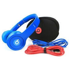 Beats by Dr. Dre Solo HD Monochrome BLUE Headband Headphones - Matte DARK BLUE