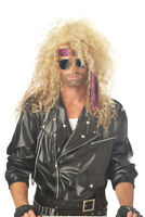 Brand New Heavy Metal Rocker Halloween Costume Wig - Blonde