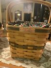 1995 Longaberger Christmas Collection Cranberry Basket , Liner, & Protector