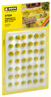 Noch HO 07036-Grasbüschel Mini Set 6 mm, blühend gelb veredelt, 42 Stück, natür.