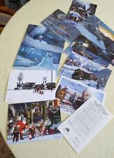 National Railroad Museum Holiday Cards - Lot Of 11 Different Trains- Brand New