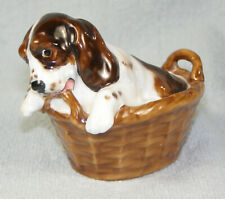 Royal Doulton Cocker Spaniel Puppy in a Basket - Hn 2586 7 - Retired