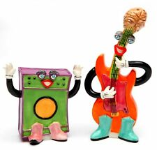 Rock & Roll Electric Bass & Amp  Salt & Pepper Shaker