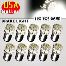 10x Pure White 1157 50 SMD LED Turn Signal Stop Light Bulbs 1076 1152 1206 12V