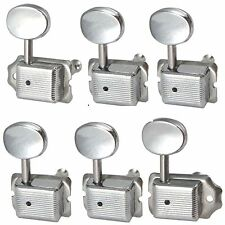 6R Chrome Retro style Guitar Tuning Pegs Machine Heads buttons for Electric Guit