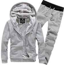 Men Winter Sweatshirts Jackets Thick Velvet Hooded Zip Coat Hoodies And pants
