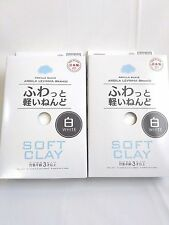 DAISO JAPAN DIY Soft Clay white craft lightweight modeling air dry 2 packs F/S