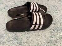 adidas Duramo Men's Slides - Size 10 - Black & White In Hand Fast Ship