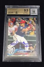 JUAN SOTO SIGNED 2018 TOPPS UPDATE SERIES AUTOGRAPHED NATIONALS RC BGS GRADE 10