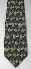 VAN HEUSEN TIE 100% Silk Blue Brown Design New with Tag
