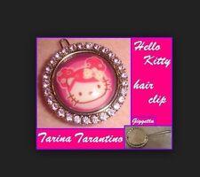 Clip molletta per capelli Tarina Tarantino Hello Kitty pink head con swarovski