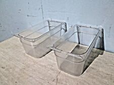 """LOT OF (2) """"CARLISLE N 10262 PC"""" H.D. COMMERCIAL (NSF) 1/3 x 6IN CLEAR POLY PANS"""