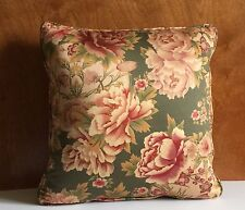 Throw Pillow Decorative-Green Floral Pattern