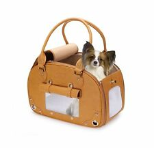 PetsHome Dog Carrier, Pet Carrier, Waterproof Premium Leather Pet Travel Port...