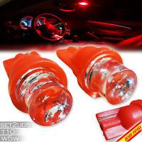 2X BOMBILLAS T10 W5W 1 LED ROJO RED SMD5050 COCHE CAR LIGHT LUZ INTERIOR MOTO