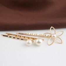 Hairpin White Pearl Hair Jewelry Bride Hair Pins Wedding Bridals Accessory