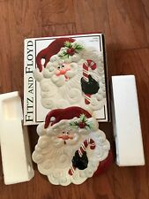 """New Fitz & Floyd Collectible """"Yuletide Holiday"""" Canape' Plate; New W/Box; 2003"""