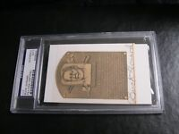 Buck Leonard Autographed HOF Cut PSA Certified Encapsulated