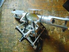 TREX 600 SILVER MAIN ROTORHEAD & FLYBAR SEESAW ASSEMBLY C/W WASHOUT MIXER