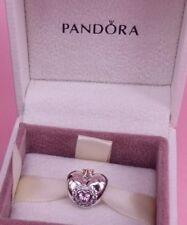 Genuine Authentic PANDORA Pink Princess Heart Charm 791375PCZ New