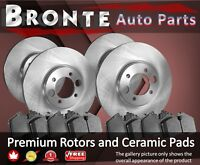 2003 2004 2005 for GMC Sierra 1500 Disc Brake Rotors and Ceramic Pads F+R