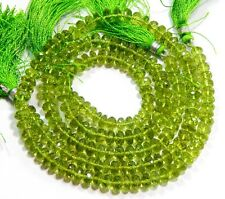 "Full 13"" X 5 Strand Fine Quality PERIDOT Faceted Rondelle Beads Briolette Sale."
