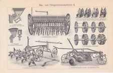 Sämaschine Drillmaschine Landwirtschaft STICH um 1908