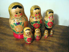 Collectible Vintage Dolls - Nesting Set of Seven - Wooden - Russian - Matpeiiika