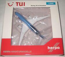 Herpa Wings 528894 Boeing 787-8 Dreamliner TUI Airlines Reg. PH-TFL 1:500