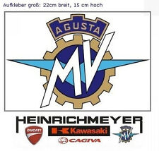 MV AGUSTA Sticker Aufkleber 22 cm F4 Brutale MV-Logo