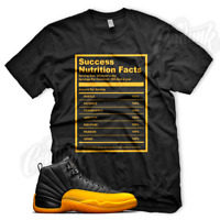 Black SUCCESS FACTS Sneaker T Shirt for Jordan Retro 12 University Gold Yellow