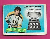 1971-72 OPC # 247 BRUINS PHIL ESPOSITO TROPHY GOOD CARD (INV# C4340)