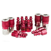 "Legacy Industrial Type D A73458D 14 Pc 1/4"" Inch Red Coupler / Plug Kit Set New"
