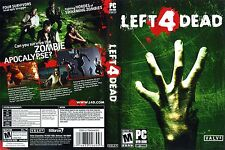Left 4 Dead PC IBM WIN XP VISTA COMPLETE Case Artwork Game Disc Zombies Horror