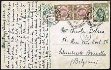 2583 HONG KONG TO BELGIUM NICE POSTCARD 1909 HK - BRUXELLES