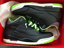 Air Jordan Retro 3 Joker DEADSTOCK Size 8.5 With Original Box Black Green Purple