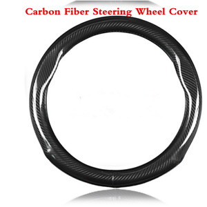 Universal Car Steering Wheel Cover Carbon Fiber Stitching Universal 38cm 15inch